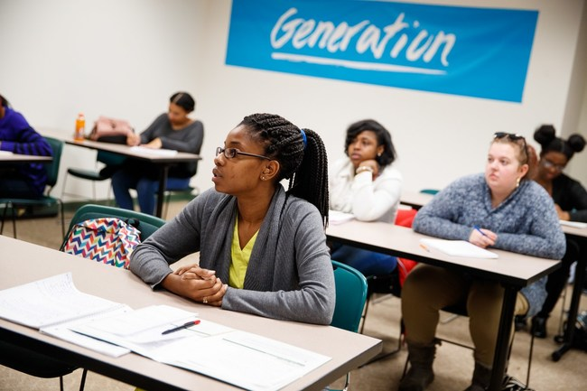 Generation USA Student in class before 2020 pandemic